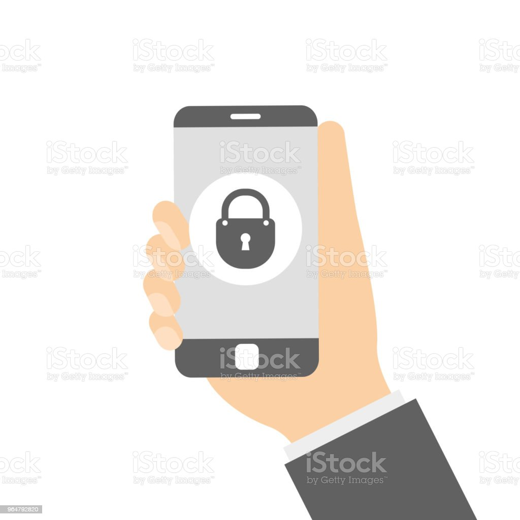 Hands holding phone with file downloading royalty-free hands holding phone with file downloading stock vector art & more images of accessibility