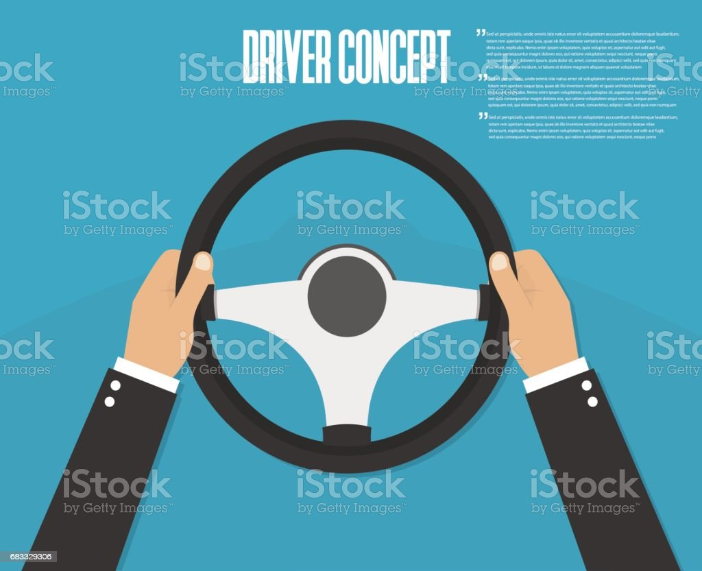 Hands holding steering wheel. Vector illustration. Driver royalty-free hands holding steering wheel vector illustration driver stock vector art & more images of abstract