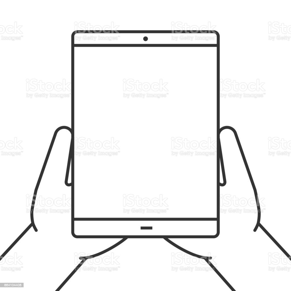 Hands holding tablet computer icon royalty-free hands holding tablet computer icon stock vector art & more images of computer