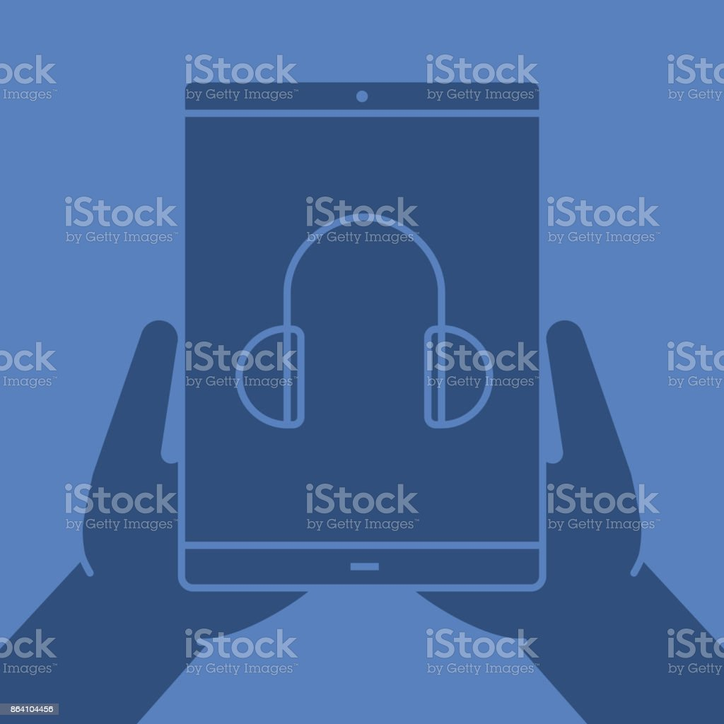 Hands holding tablet computer icon royalty-free hands holding tablet computer icon stock vector art & more images of arts culture and entertainment