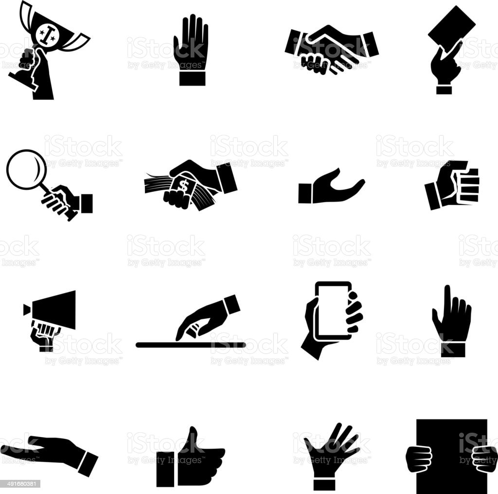 Hands Icons and Symbol Design Template Vector Illustration vector art illustration