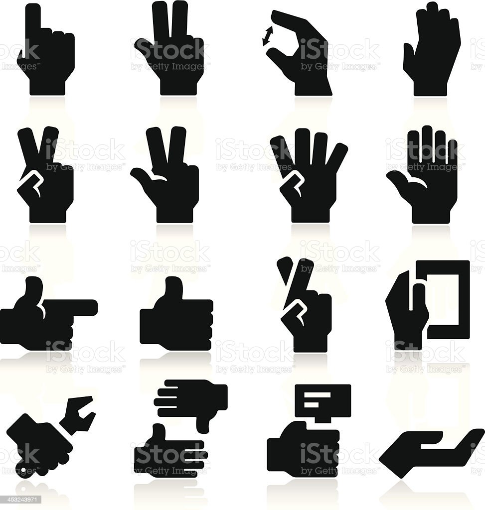 Hands Icons Two royalty-free stock vector art