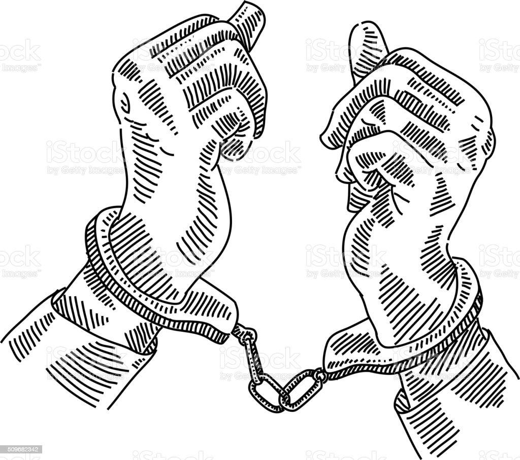 Mãos no esquecimento - ilustração de arte em vetor
