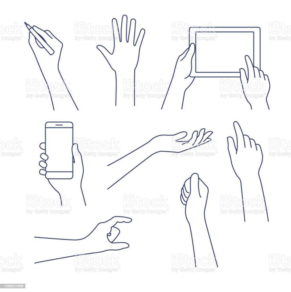 Hands line icon. Vector illustration. Editable stroke. royalty-free hands line icon vector illustration editable stroke stock illustration - download image now