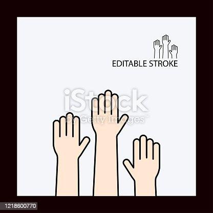 istock Hands Line Icon.Editable Stroke 1218600770