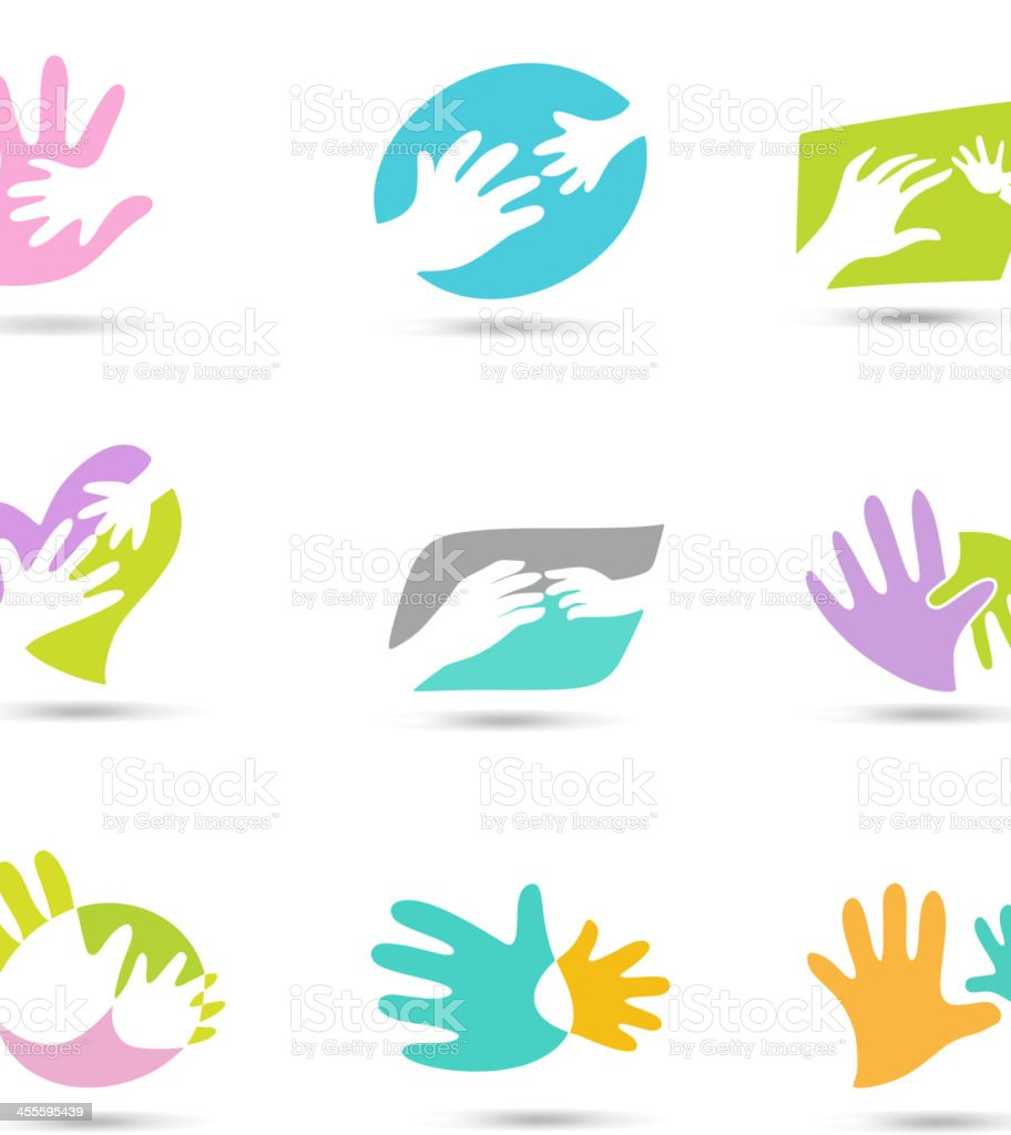 Hands Logo vector art illustration