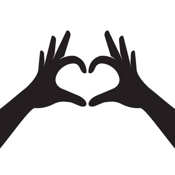 stockillustraties, clipart, cartoons en iconen met handen hart vorm maken - hands