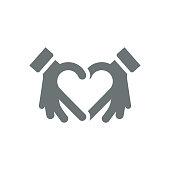 Hands making heart shape,vector illustration. EPS 10.