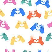 istock Hands making heart sign 1287465130