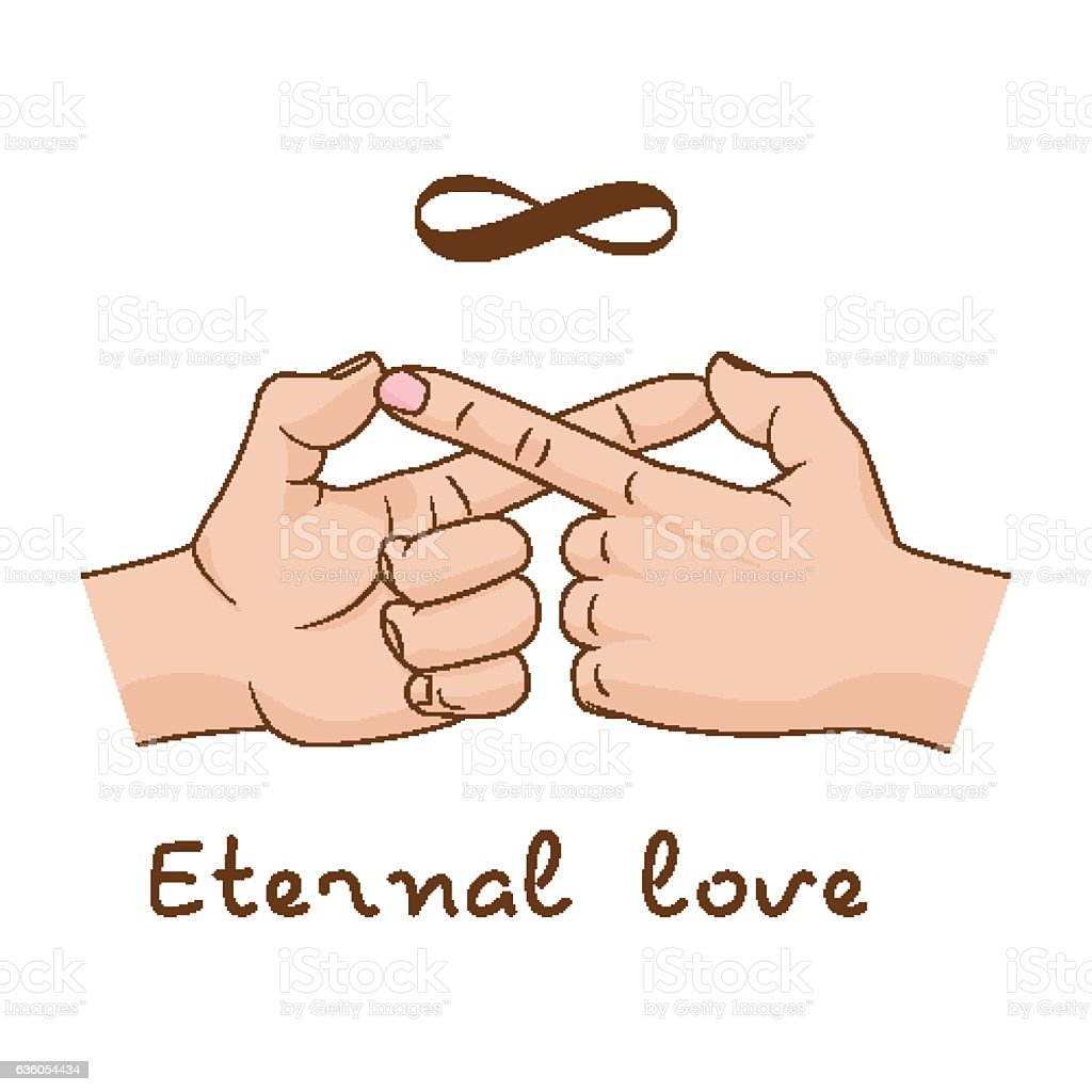 Hands making infinity symbol eternal love and friendship vector hands making infinity symbol eternal love and friendship vector illustration royalty free hands biocorpaavc Images