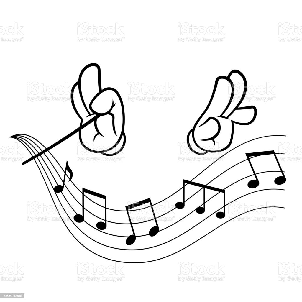 Hands of conductor royalty-free hands of conductor stock vector art & more images of cartoon