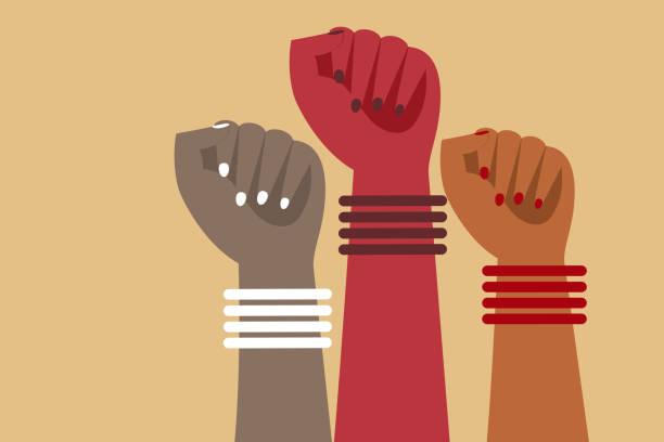 illustrazioni stock, clip art, cartoni animati e icone di tendenza di hands of women wearing bangles - mano donna dita unite