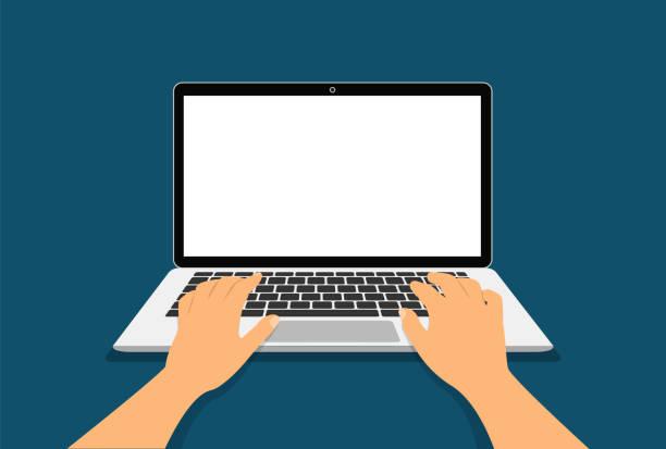 1 216 Hands On Computer Keyboard Illustrations Clip Art Istock