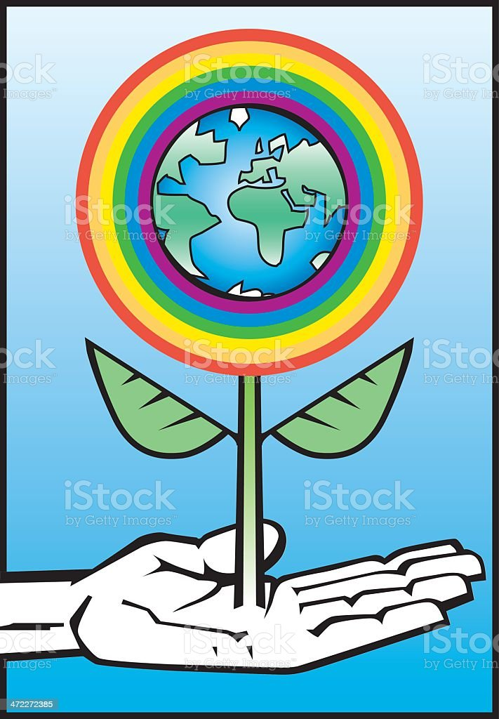 Hands on Earth royalty-free hands on earth stock vector art & more images of allegory painting