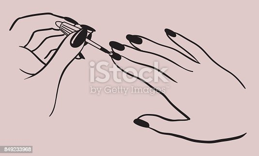 Hands Painting Nails