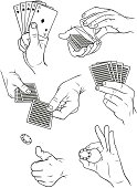 istock Hands playing cards and gambling 2 165791536