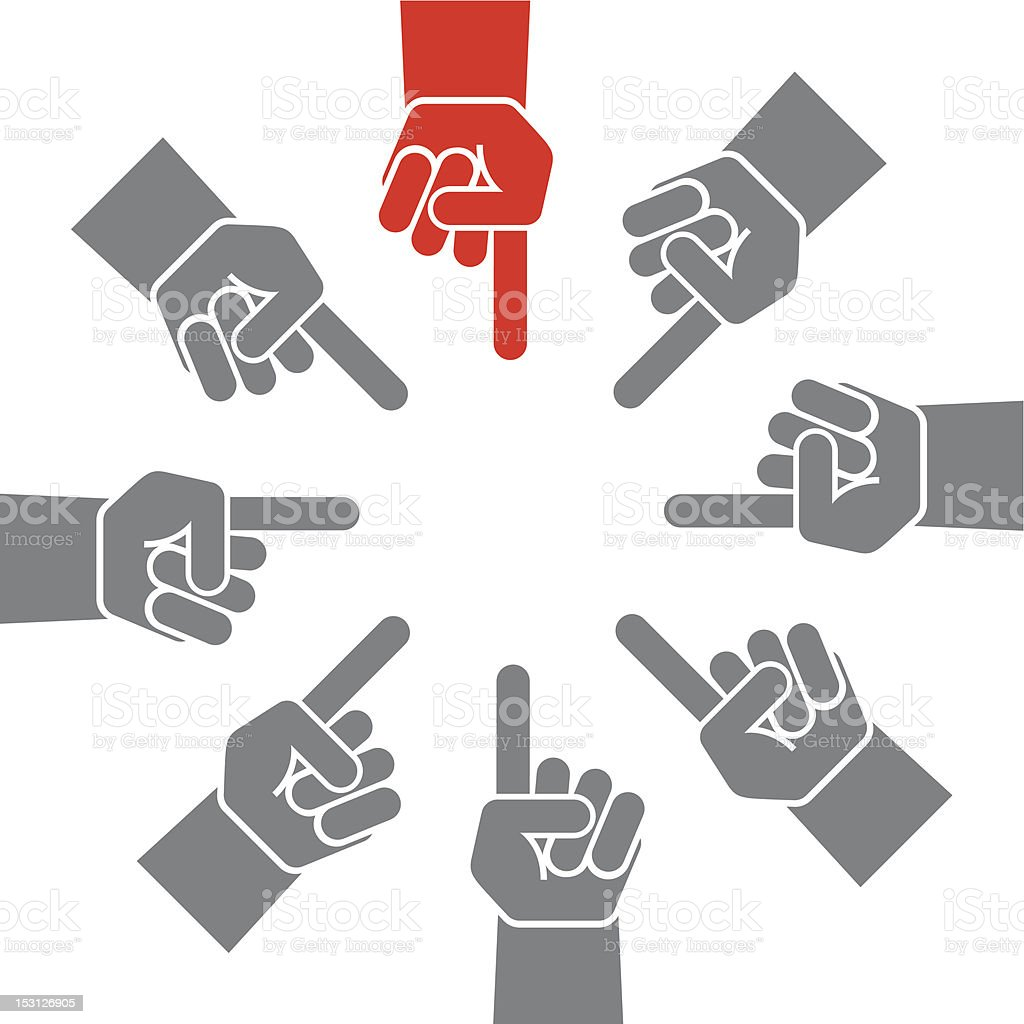 Hands pointing royalty-free hands pointing stock vector art & more images of choice