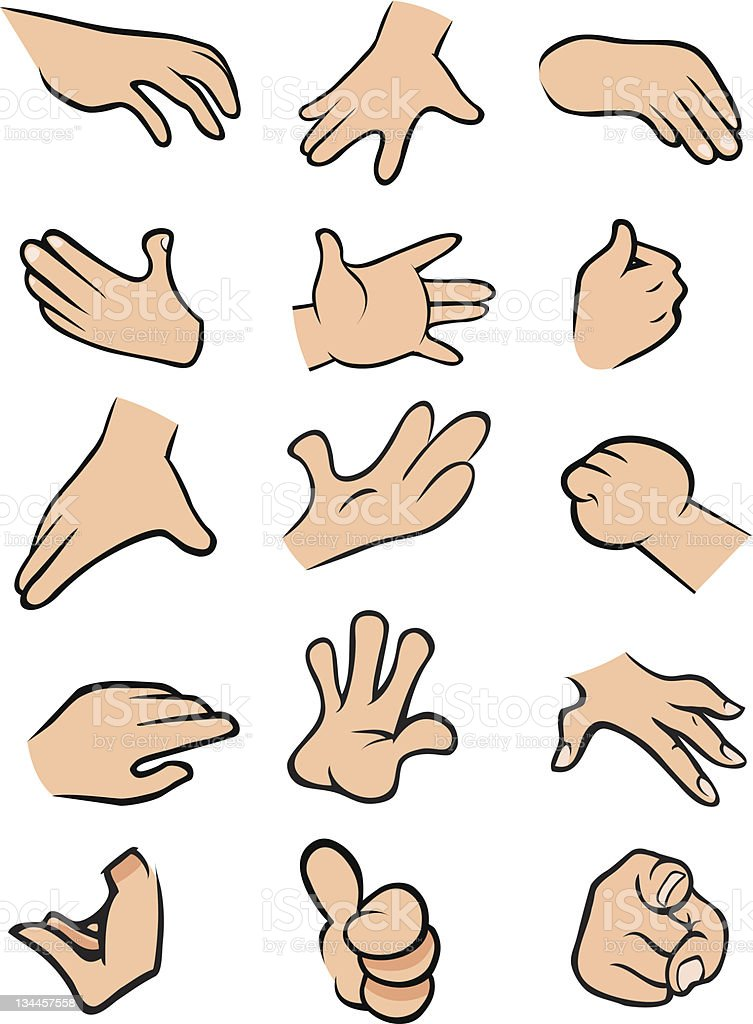 hands poses stock vector art more images of anatomy 134457558 istock