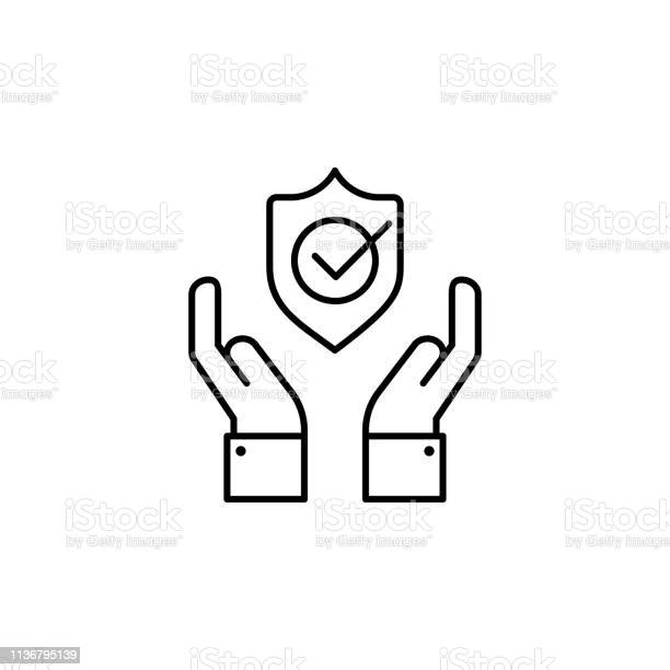 Hands shield check protection icon element of insurance icon thin vector id1136795139?b=1&k=6&m=1136795139&s=612x612&h=vmvqrzyla0g3b0fljsyj0in2zry8dbxbk4pmh1d7lma=