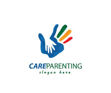 Hands sign illustration Parenting design