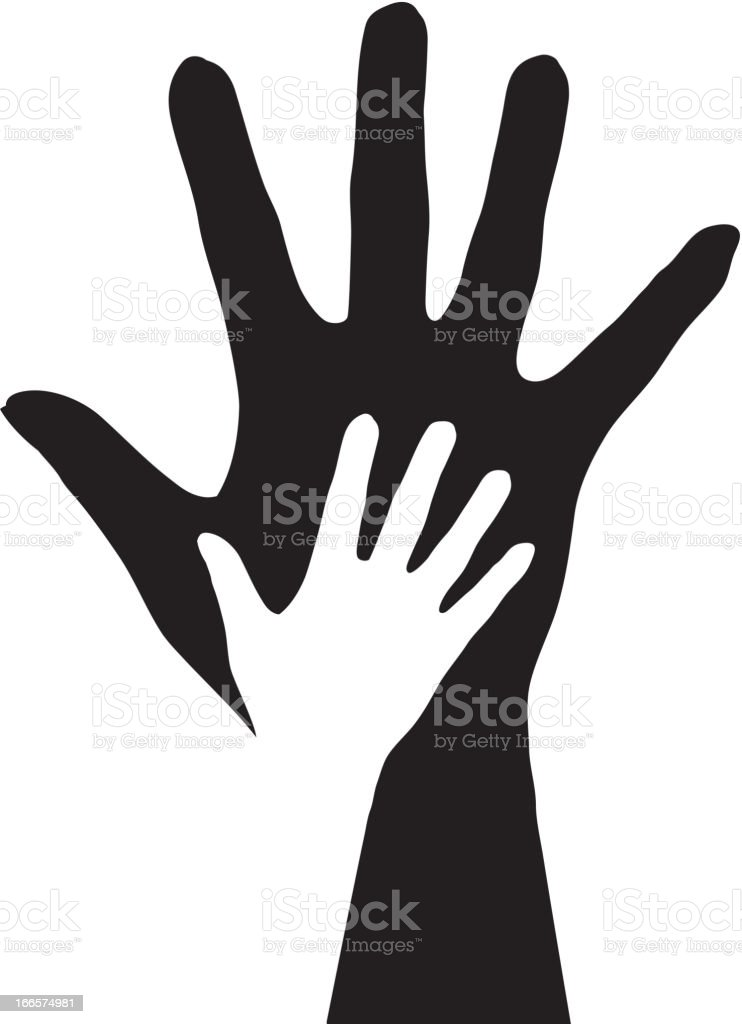 Hands silhouette. royalty-free hands silhouette stock vector art & more images of assistance