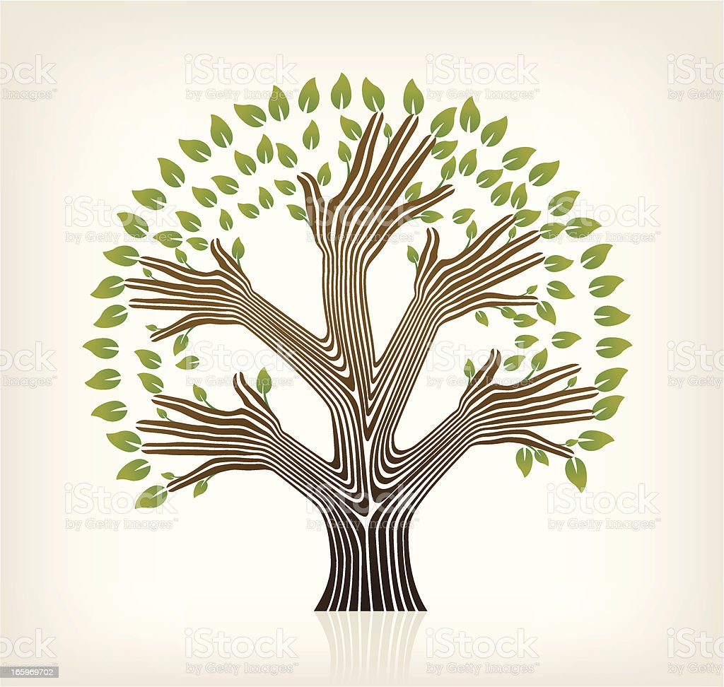 Hands Tree royalty-free hands tree stock vector art & more images of environment