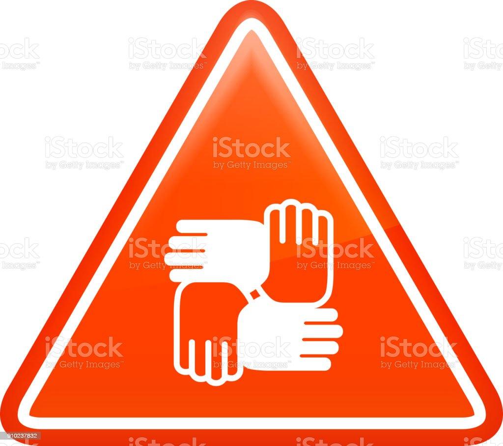 Hands United. vector art illustration