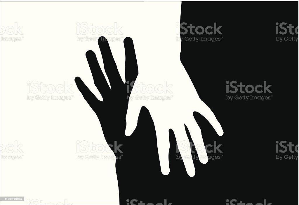 hands vector art illustration