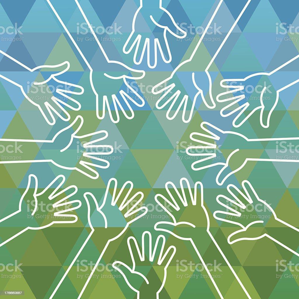 Las manos ilustración de las manos y más banco de imágenes de brazo humano libre de derechos