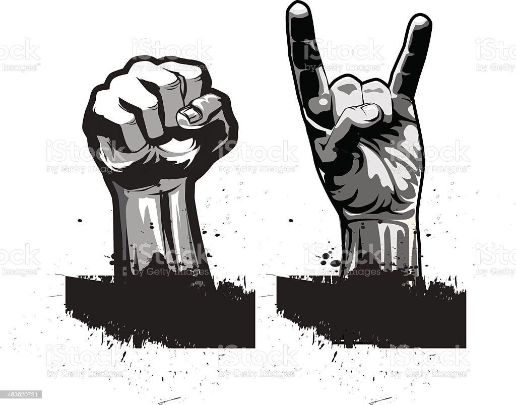 Hands. royalty-free stock vector art