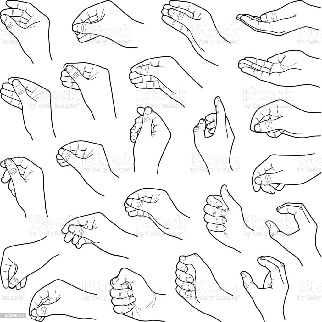 Hands - Grafika wektorowa royalty-free (Chwytać)
