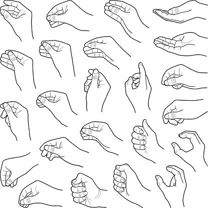 Hands - Stockowe grafiki wektorowe i więcej obrazów Chwytać