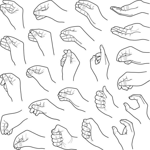 hands - znak ręką stock illustrations