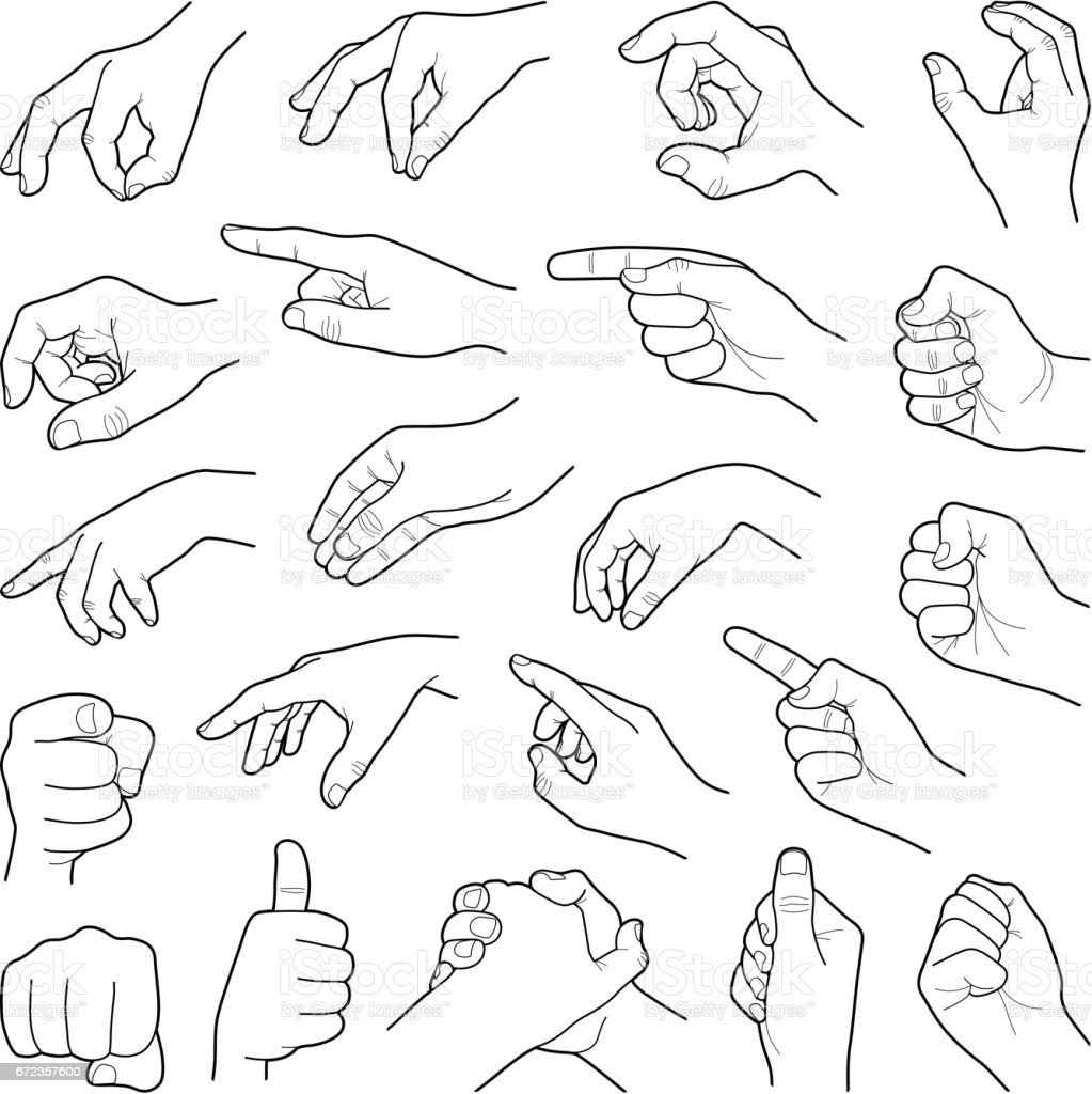 Hands vector art illustration