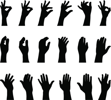 hand silhouettes stock illustrations