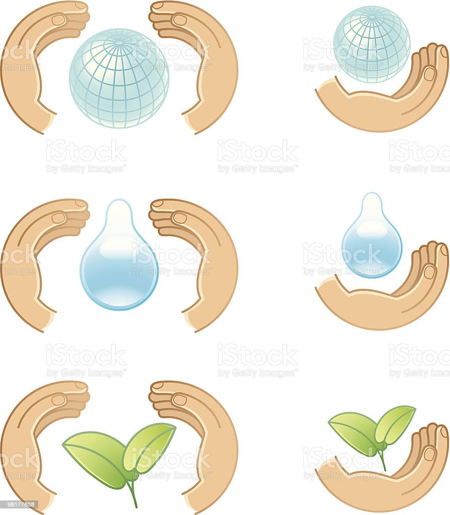Hands royalty-free hands stock vector art & more images of animal wildlife