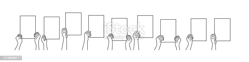 istock hands with blank paper 1218636217