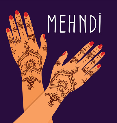 hands with mehendi patterns