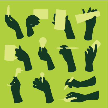 hands with objects