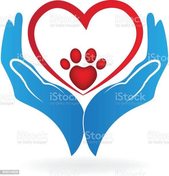 Hands with paw print love heart of a pet icon vector vector id806049606?b=1&k=6&m=806049606&s=612x612&h=bbp4k4ckjnmdv3v0ykbsi vnaa9genbtrjbhjpzmkoy=