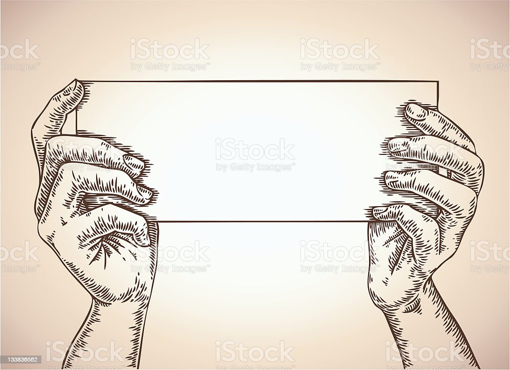 hands with template vector art illustration