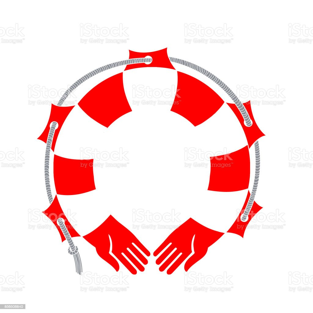 Hands-a lifeline. Vector illustration vector art illustration