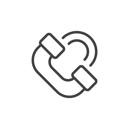 Handset icon. Vector Illustration.