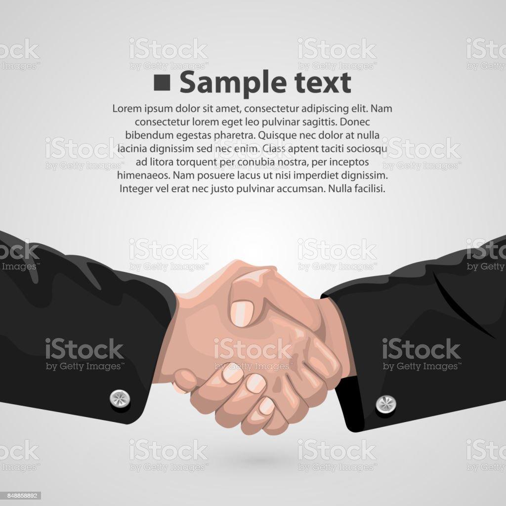 Handshake Businessvertrag Stock Vektor Art und mehr Bilder von ...