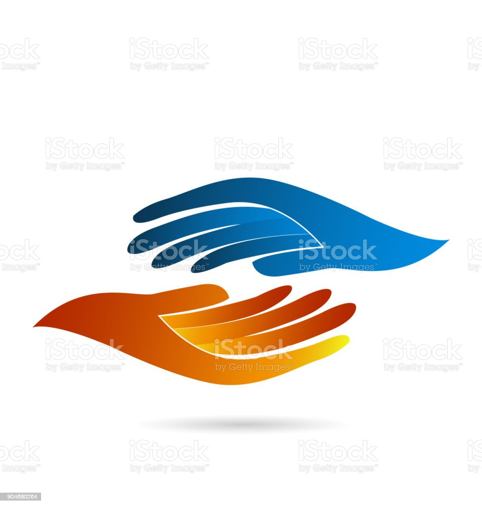 Handshake business concept identity card web vector vector art illustration
