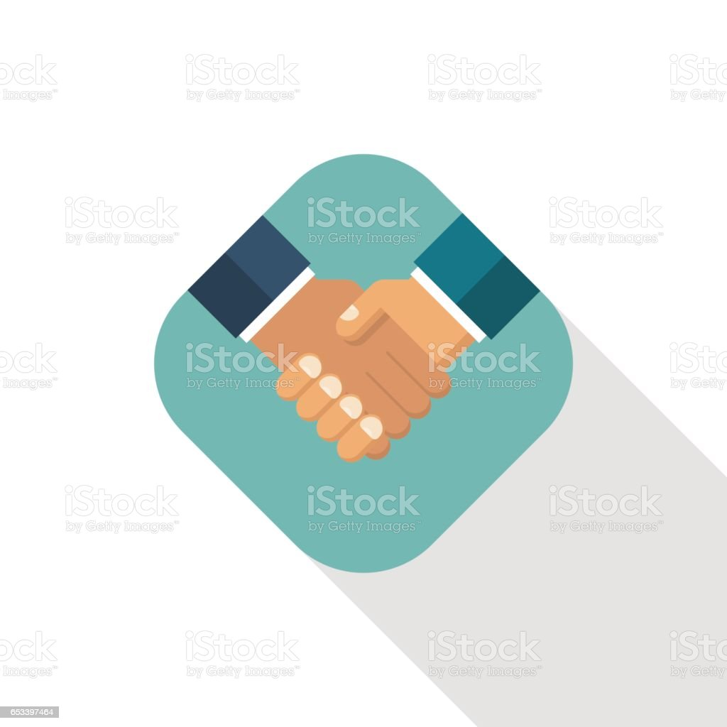 Handshake business icon vector art illustration
