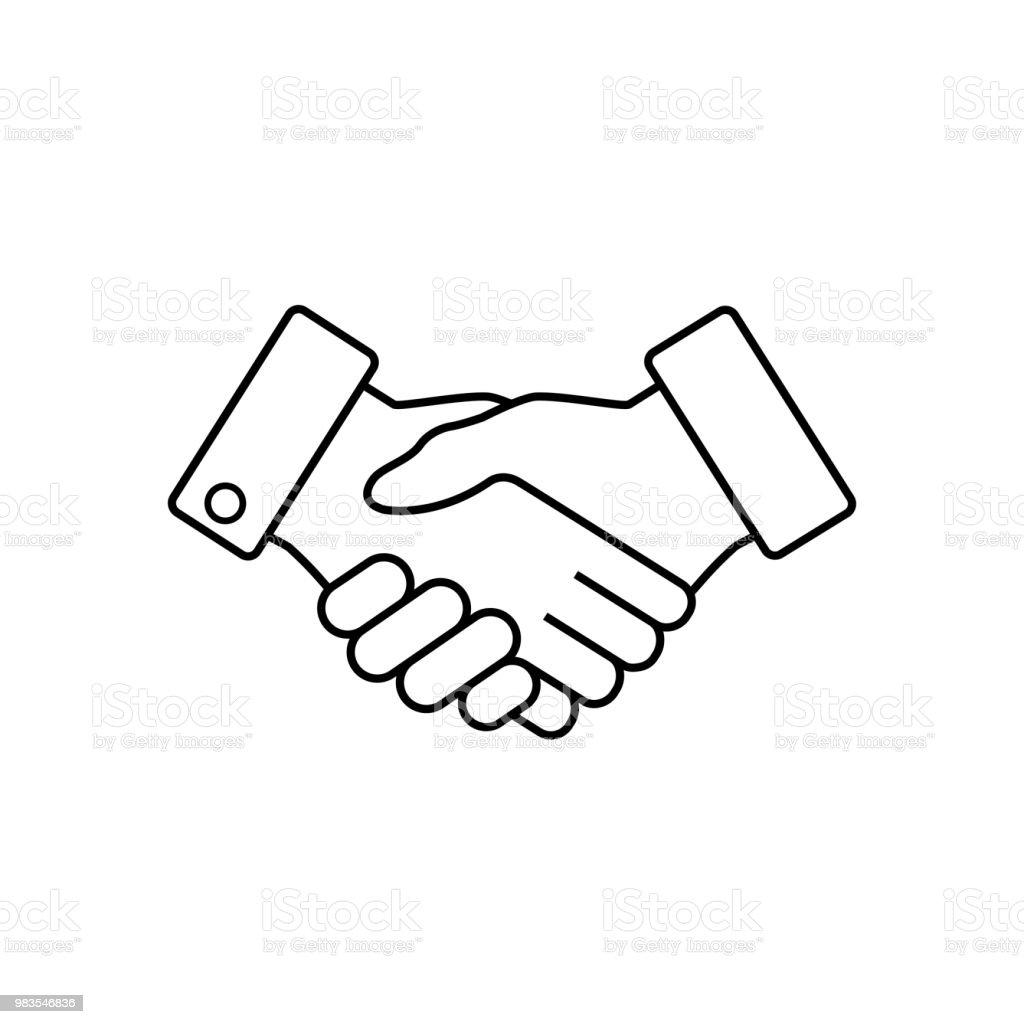 Icône de business Handshake, vector. - Illustration vectorielle