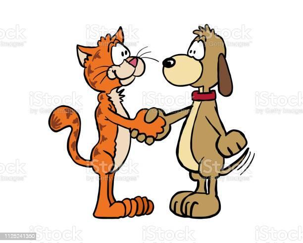 Handshake cat and dog vector id1125241350?b=1&k=6&m=1125241350&s=612x612&h=x5qpewvr0uodssc2dxm1uow8zb8i5xg79t 77yc 0ha=