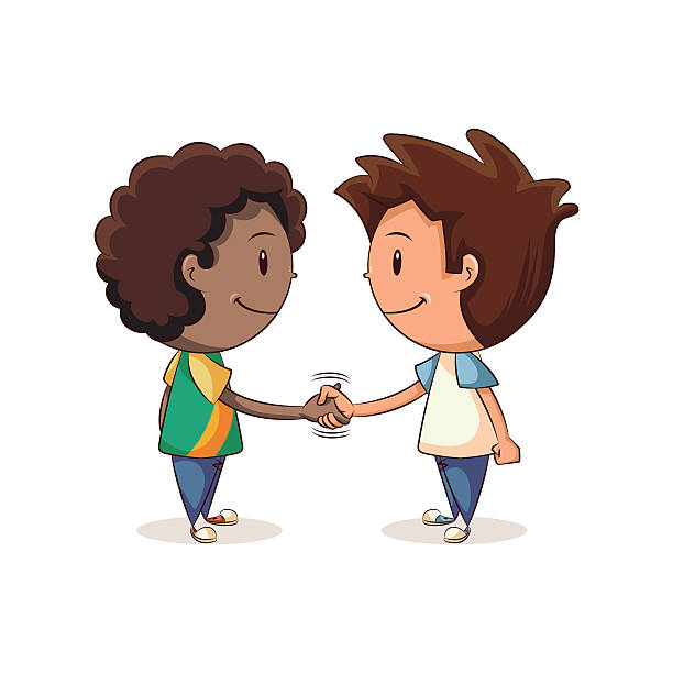 Royalty Free Boys Shaking Hands Clip Art, Vector Images ...  Kids