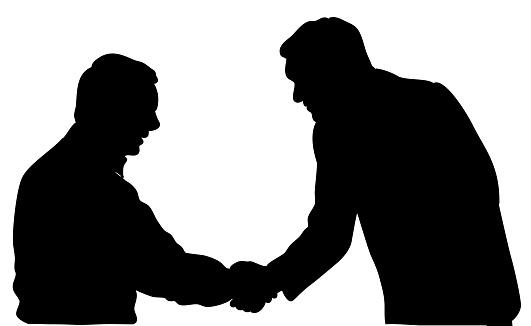 Handshake Closeup Silhouette